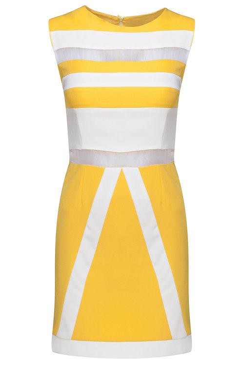 Sarı Beyaz Elbise