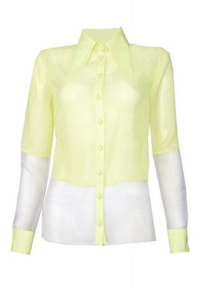 Sarı Organze Gömlek