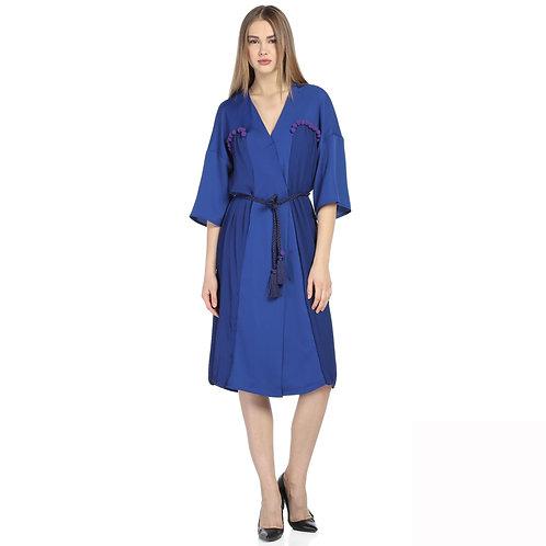 Mavi Kimono Elbise