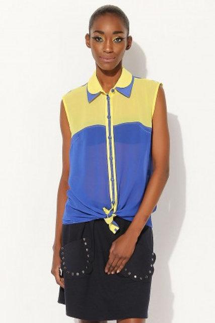 Sarı Lacivert Gömlek