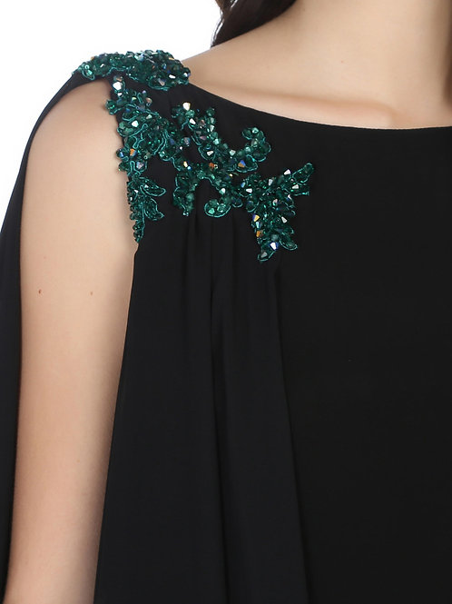 Taş Detaylı Elbise