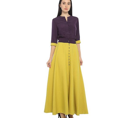 Mor Sarı Elbise