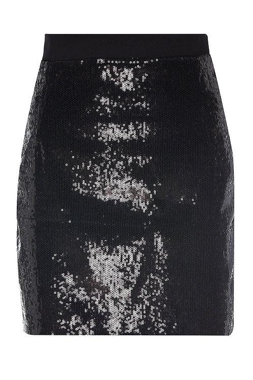 Siyah Payetli Etek