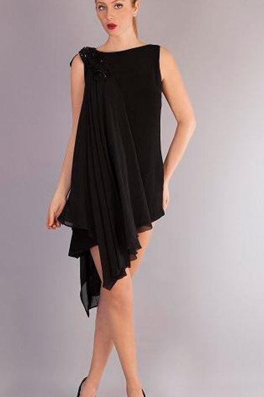 Şal Detaylı Elbise