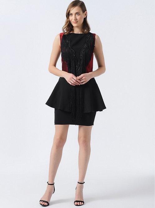 Siyah Kırmızı Elbise