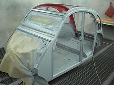 Citroën 2 CV restauration caisse
