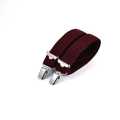 Bretelles fines à pinces - Bordeaux texturé