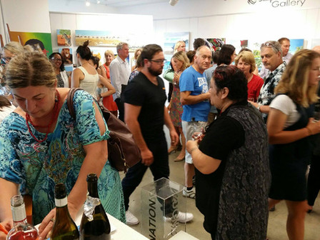 opening night 'Students of Paula Knight EXHIBITION' Creative Tauranga