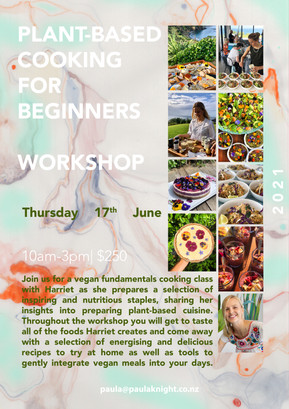 Plant-based wholefood cooking class