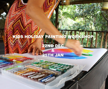 Holidays?  'Kids holiday painting class' dates!