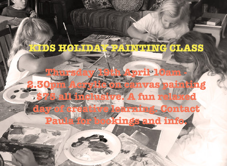 KIDS HOLIDAY PAINTING CLASS!!! 👩🎨👨🎨😊