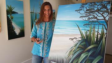 Artist Paula Knight in her gallery in Tauranga