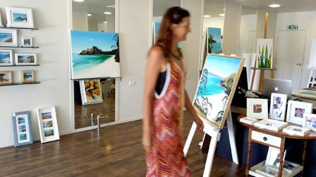 Sneak peek of current exhibition-
