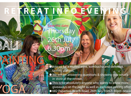 Bali Painting and Yoga Retreat Info Evening