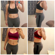 """""""First of all thaaaank you Girl! Definitely the push I needed. It might not look like much, I've lost 4 pounds but I do notice a little more definition (especially in the booty lol). And what I'm really happy about it is the cellulite behind my legs/ butt is less noticeable!!! I'm so mad that I didn't take a picture of that starting 😩 but it's a difference and I couldn't be more happy because its no stopping here! Also I'm waaay more comfortable with the gym. I used to be intimidated walking in and not really knowing how the machines worked but thanks to you I knew exactly what I was to do on a machine. This was fun. Thanks again!!! 💕💕💕🤗🤗 P.S so proud of what your doing, keep going up, Your thee best💜"""""""