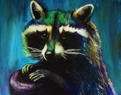 Raccoon Painting