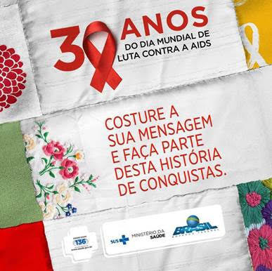DIA MUNDIAL DE LUTA CONTRA A AIDS: VOCÊ FAZ PARTE DESSA HISTÓRIA