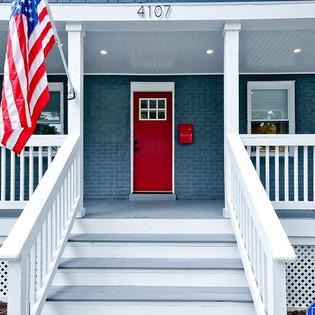 #craftsmanhome,#reddoors