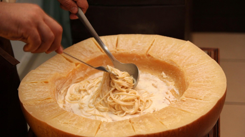 Spaghetti no Grana Padano
