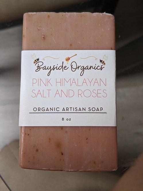Organic Pink Himalayan Salt and Roses Soap