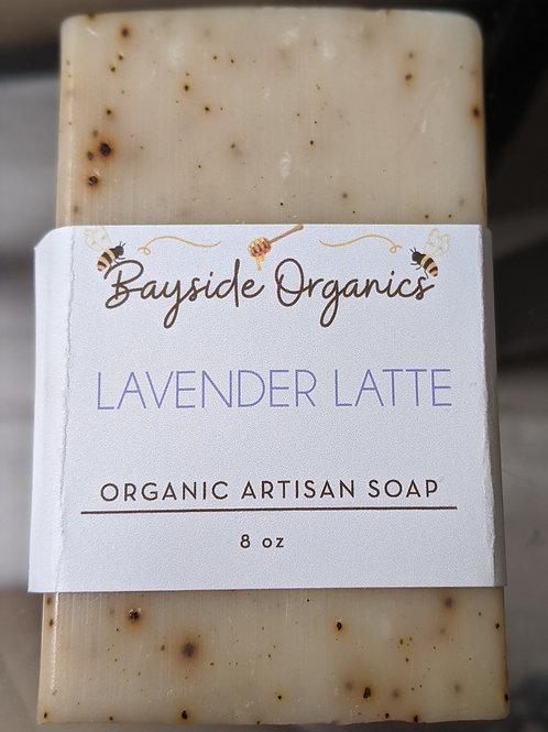 Organic Lavender Latte Exfoliant Soap