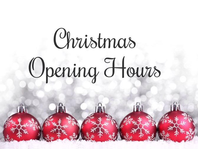 CSV Christmas & New Year opening times.