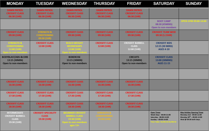 Smmer Time Table and Bank Holiday