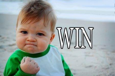 WIN WIN WIN!!!
