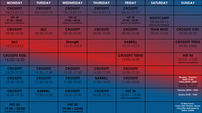 Don't forget to check out CSV's updated timetable and membership prices!