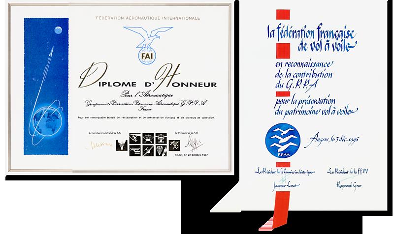 musée, aviation, Angers, Espace Air Passion, diplôme FAI, dipôme FFVV, GPPA