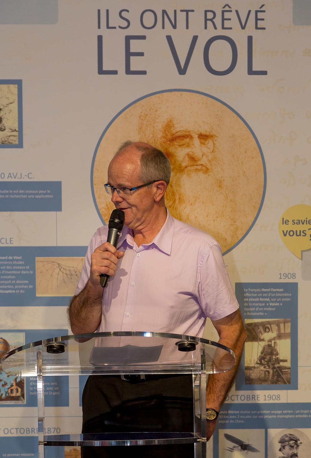 François Blondeau, président d'Espace Air Passion