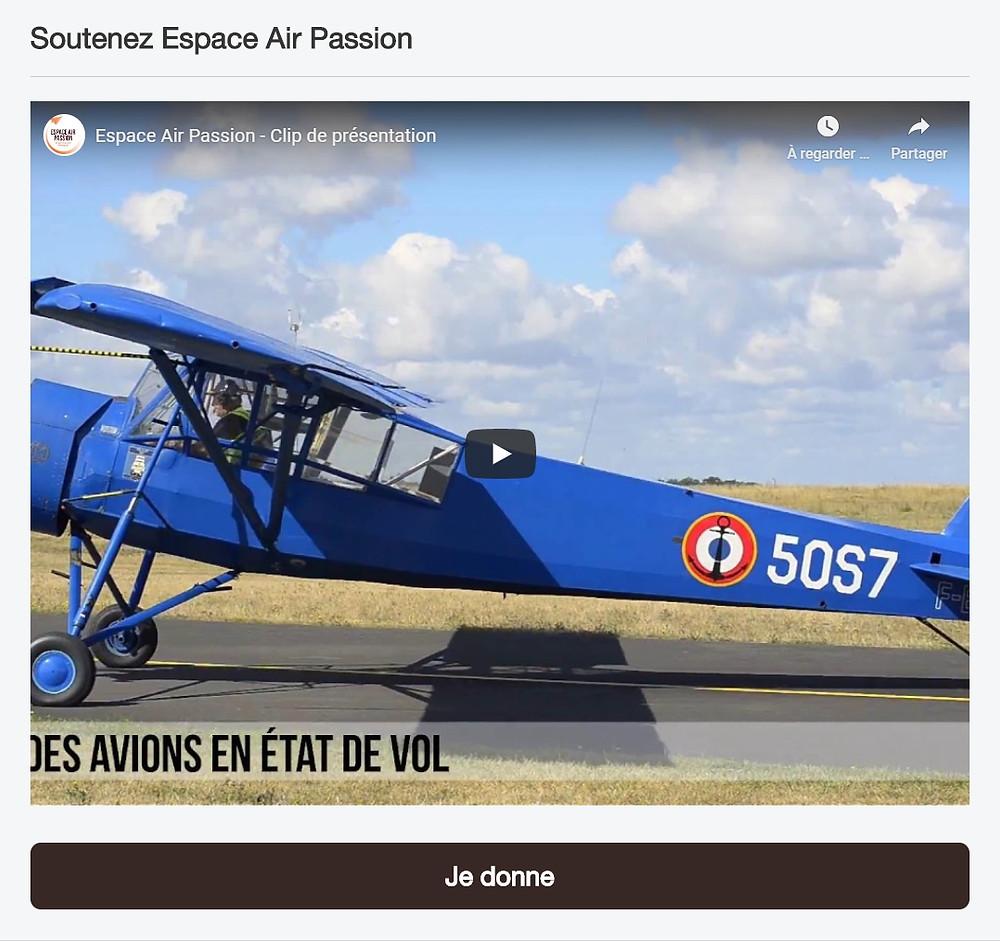 Soutenez Espace Air Passion