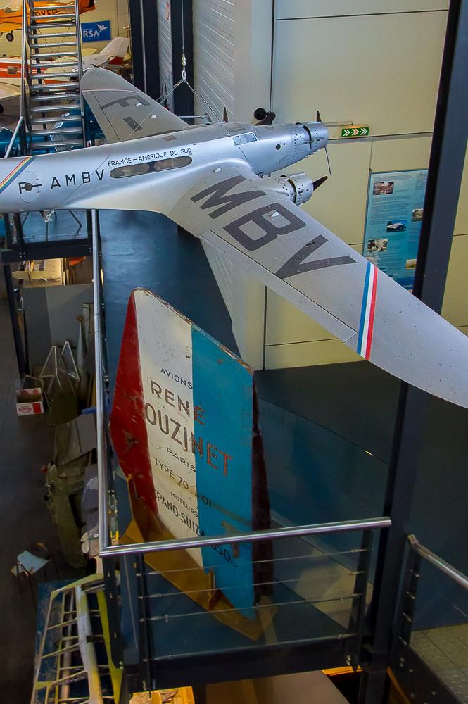 La dérive du Couzinet 70 et la maquette de l'avion