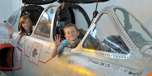 musée, aviation, Angers, Espace Air Passion, enfants, cockpit visitable