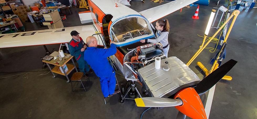 musée, aviation, Angers, Espace Air Passion, GPPA, pôle technique, restauration aéronautique