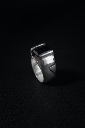 Onyx and Sterling Silver