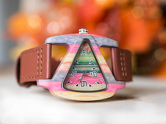 Colorful triangle ladies wood watch-gift for her-giftfriend gift on sale.jpg