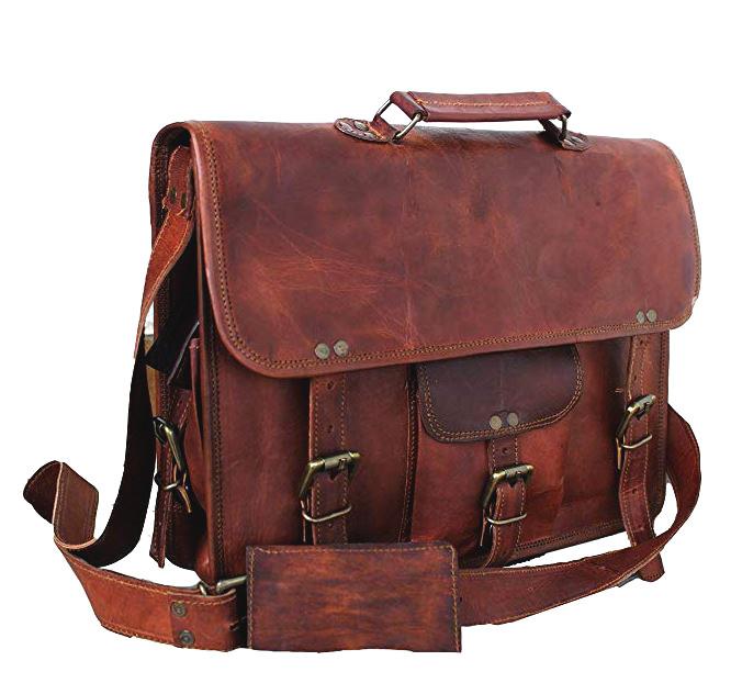 Handmade craft Leather Messenger Bag for Laptop Briefcase