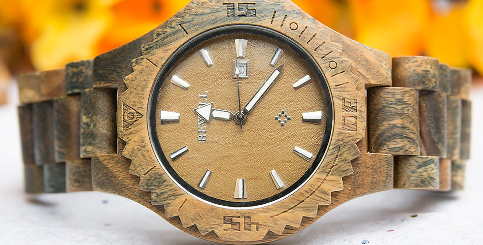 Elegant Personalized Mens Wooden Watch Vera Wood