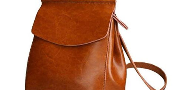 Women Anti-Theft Shoulder Handbag Genuine Leather Backpack Casual Bag