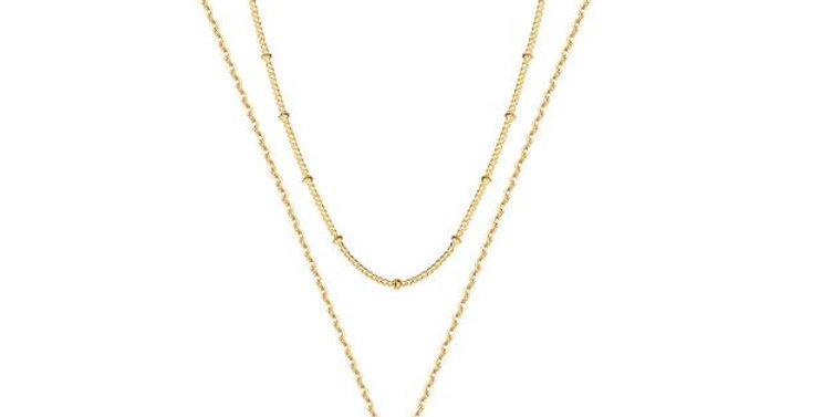 Womens 14K Gold Plated Shell Necklace