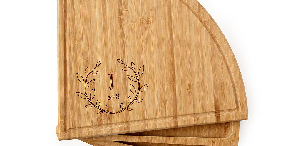 Personalized GOS  Compact Swivel Cheese Board