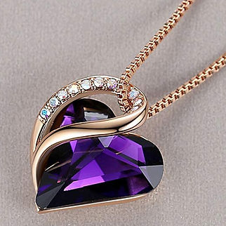 Leafael 18K Rose Gold Plated Love Heart Pendant Necklace-2.jpg