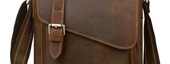 Handmade Men's Leather Messenger Bag Shoulder Bag