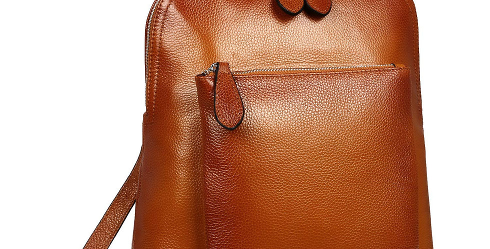 Women's Vintage Casual Top Grain Leather Backpack