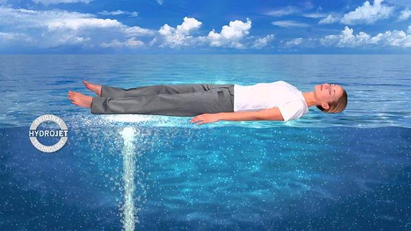 massage à sec, pause détente, jets d'eau, pression, musicothérapie, chromothérapie,