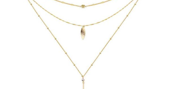 Elegant Layered Choker Necklace 14K Gold Filled Choker Necklace for Women