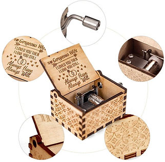 Music Box Gift for Wife from Husband Vintage Wooden Hand Crank for Wedding Anniversary.jpg