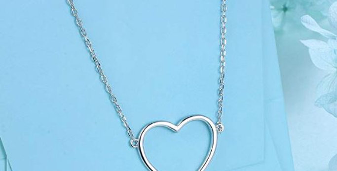 S925 Sterling Silver Heart Shape Necklace Pendant