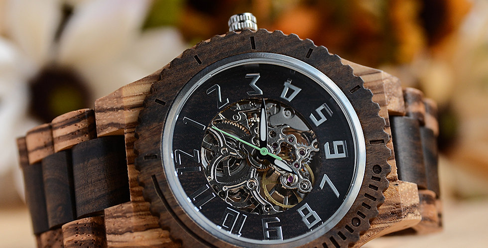 UD Premium Eco-Friendly Automatic Mechanical Wood Watch For Men